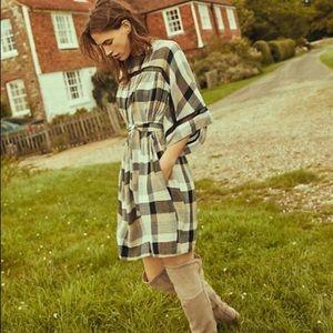 Maeve by Anthro earth tone  tone plaid dress/tunic
